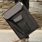 博格利諾圓角帶兜速寫板8k可裝紙手提多功能美術寫生畫夾畫袋收納  依夏嚴選