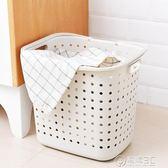 臟衣籃臟衣籃塑料洗衣籃放玩具的衣物臟衣服收納筐家用裝衣婁桶籃子簍藍WD 溫暖享家