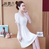 限時特價 白色連衣裙女夏裝年新款夏季雪紡裙矮小個子裙子仙女超仙森系