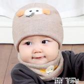 嬰兒帽 嬰兒帽子秋冬季0嬰幼兒童新生嬰兒帽女加厚保暖圍巾男寶寶毛線帽1 童趣屋