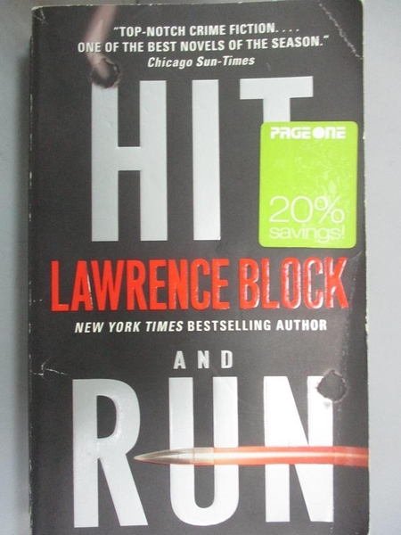 【書寶二手書T6/原文小說_CU8】Hit and Run_Block, Lawrence