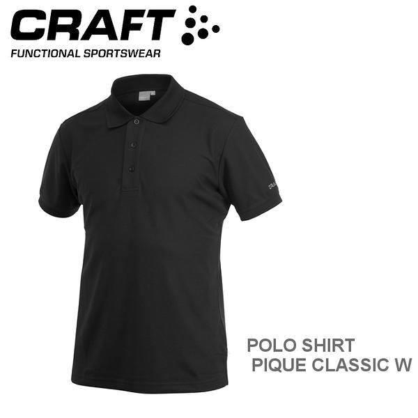 【速捷戶外】瑞典CRAFT 192466 男短袖排汗POLO衫(黑色) POLO SHIRT PIQUE CLASSIC M