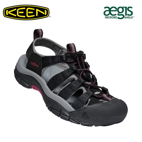 【KEEN 美國 女 NEWPORT H2 護趾涼鞋《黑》】1022801/水陸兩用鞋/戶外休閒鞋/運動涼鞋