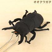 Hamee 日本 森林昆蟲 絨毛娃娃 掌上型玩偶 珠鍊吊飾 掛飾 (鍬形蟲) 390-910140
