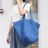 帆布袋 素色 交叉 壓摺 搭釦 側肩包 手提包 帆布包 環保購物袋--手提/單肩【ALSR9919】 icoca  10/10
