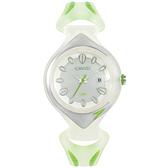 Speedo 漫步雨中休閒腕錶-綠
