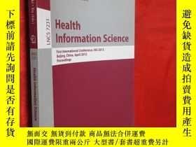 二手書博民逛書店Health罕見Information Science: Fir
