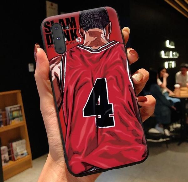 三星新款矽膠Note10手機殼 Note10 Plus日韓卡通灌籃高手防摔保護殼  SamSung全包邊手機套