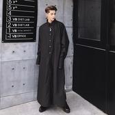 長袖襯衫-純色秋冬時尚新款特殊長款男上衣2色73po35【巴黎精品】