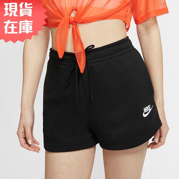 【現貨】NIKE Sportswear Essentials 女裝 短褲 棉質 休閒 口袋 黑【運動世界】CJ2159-010