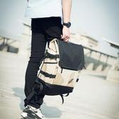 雙肩包男日韓潮牌街頭男士背包學院潮男復古戶外大容量迷彩書包