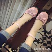 娃娃鞋   日繫娃娃鞋平底圓頭小皮鞋蝴蝶結女鞋英倫女單鞋  歐韓流行館