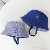 兒童帽子春夏季男童盆帽棉質2面戴遮陽太陽帽小寶寶漁夫帽嬰兒帽  【快速出貨】