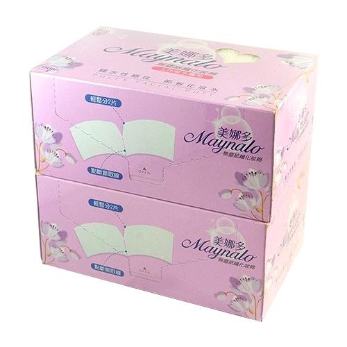 Maynalo 美娜多 無塵紙纖化妝棉 (180枚x2盒)【新高橋藥妝】