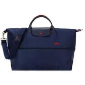 【南紡購物中心】LONGCHAMP Le Pliage Collection刺繡延展夾層手提/斜背旅行袋(海軍藍)