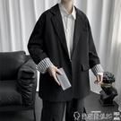 西裝外套 小西裝外套男2021新款潮流韓版痞帥寬鬆男裝衣服港風休閒西服 爾碩