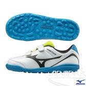 MIZUNO 美津濃 IGNITUS 4 KIDS AS  黏貼帶式兒童足球鞋 (白*黑)
