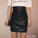 窄裙 高腰緊身小皮裙2021春季新款短裙女超高腰顯瘦包臀裙一步裙半身裙 夏季新品