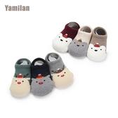 3雙寶寶襪子棉襪秋冬加厚男女兒童地板襪防滑保暖嬰兒襪套0-1-5歲