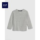 Gap男嬰幼童 舒適長袖T恤 496405-石楠灰色