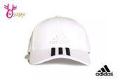 Adidas Classic 3 Stripes Cap 老帽 運動帽 棒球帽 白色電繡Logo A0471#白 ◆OSOME奧森童鞋