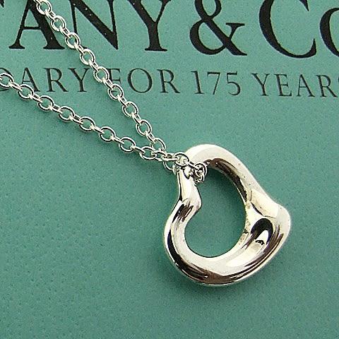 【奢華時尚】TIFFANY&Co. Open Heart 925純銀項鍊(迷你)#4342