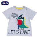 chicco-滑板恐龍-印圖造型短袖上衣
