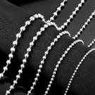 《 QBOX 》FASHION 飾品【NTGXL000】精致個性粗曠圓珠鍊鈦鋼項鍊子/鋼鍊條