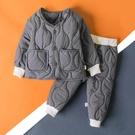 男童套裝 兒童童裝新款男童加棉套裝秋冬裝女兒童棉服兩件套兒童棉襖棉衣潮 【免運】