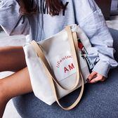 超火帆布包包女2018新款潮秋季韓版時尚百搭單肩側背包托特包