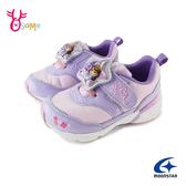 Moonstar月星女童鞋 小公主蘇菲亞電燈鞋 機能鞋 運動鞋 慢跑鞋 迪士尼聯名款 J9635#紫色◆OSOME奧森
