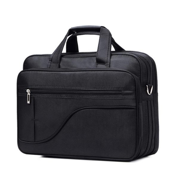筆電包 牛津布公文包男商務男士包包手提包手拿帆布大容量電腦包【韓國時尚週】