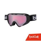法國 Bolle EXPLORER OTG 青少年款 雙層鏡片設計 防霧雪鏡 亮麗黑/朱金紅 #21376