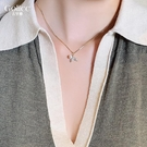 項鍊 精致珍珠魚尾鎖骨鍊女新款ins潮小眾設計頸鍊脖子飾品 - 歐美韓熱銷