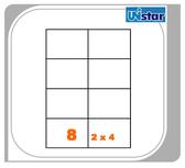 【量販10盒】裕德 電腦標籤 8格 US4470 ((買五盒送五盒,型號可任選!))三用標籤 列印標籤