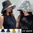 [現貨]帽子·棉麻材質 大帽檐 印花 雙...