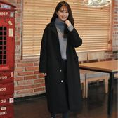 森系毛呢外套女秋冬新款韓版中長款過膝學生chic呢子大衣 韓慕精品