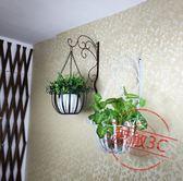 歐式鐵藝壁掛花盆架 綠蘿壁掛花架掛墻墻上室內陽台懸掛吊蘭花架
