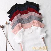 新春狂歡 女童短袖t恤女2018新款上衣兒童寶寶白色體恤嬰兒夏裝半袖打底衫
