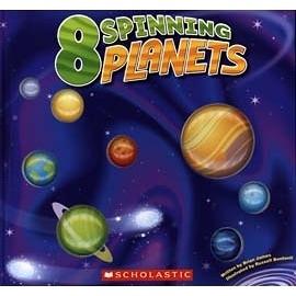 【科學知識書】8 SPINNING PLANETS /立體浮雕頁面