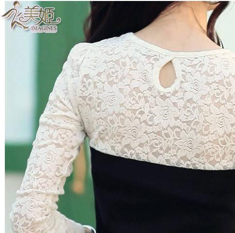 衣美姬♥韓版性感蕾絲洋裝 網紗修身連身裙 約會上班包臀裙【現貨】