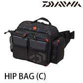 漁拓釣具 DAIWA HIP BAG [C] #黑 [腰背包]