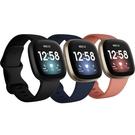 送(環保防霉片組-5入) 3C LiFe Fitbit Versa 3 健康智慧手錶 智能 運動手錶 公司貨