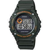 CASIO 競速電小子休閒數字錶(墨綠)_W-216H-3B