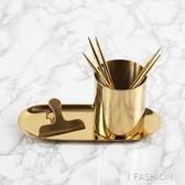 ins風金色花瓶  北歐丹麥黃銅色 圓形筆筒 金屬插花器 收納杯擺件·ifashion
