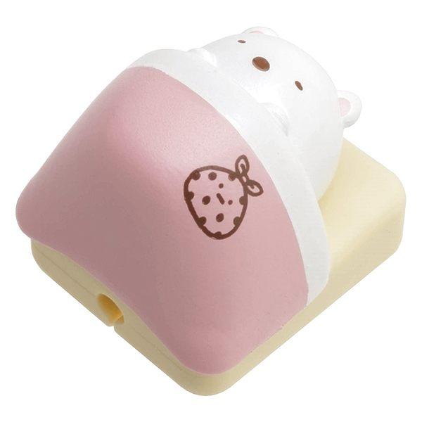 又敗家日本San-X角落生物USB數據充電線保護套R7180貓蝦尾巴豬扒白熊角落小夥伴充電傳輸線保護套
