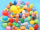 聖誕元旦鉅惠 洗澡玩具小黃鴨寶寶洗澡玩具小黃鴨洗澡鴨子玩具捏捏叫小鴨子