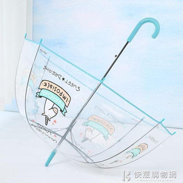 直立傘日系透明傘雨傘女韓國小清新學生韓版公主成人兒童可愛卡通長柄傘 NMS快意購物網