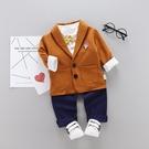 兒童西服新款春裝兒童洋氣英倫禮服男寶寶帥氣休閒小西裝套裝