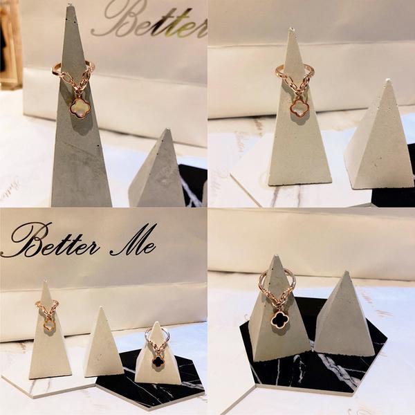 (BEAGLE) 水泥金字塔型戒台 戒托 水泥首飾展示架 網拍拍攝道具 一組:4件